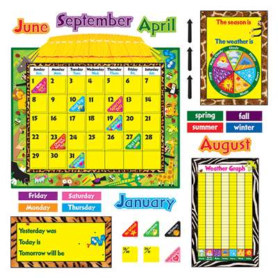 Bb Set Jungle Fun Calendar By Trend Enterprises