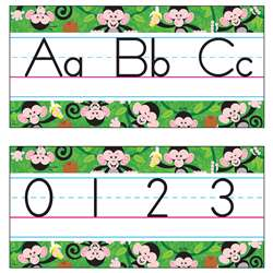 Bb Set Monkey Mischief Manuscript Jumbo Alphabet Line Zaner-Bloser By Trend Enterprises