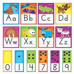 Awesome Animals Alphabet Cards Std Manuscript Bulletin Board Set By Trend Enterprises