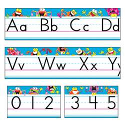 Frog Tastic Alphabet Line Std Manuscript Bulletin Board Set By Trend Enterprises