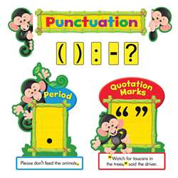 Monkey Mischief Punctuation Bulletin Board Set, T-8282