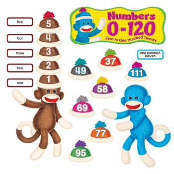 Sock Monkeys Numbers 1-120 By Trend Enterprises