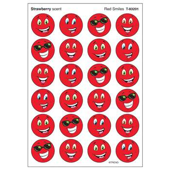 Stinky Stickers Red Smiles Strawberry By Trend Enterprises