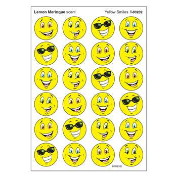 Stinky Stickers Yellow Smiles/Lemon Mering By Trend Enterprises
