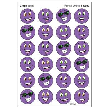 Stinky Stickers Purple Smiles/Grape By Trend Enterprises