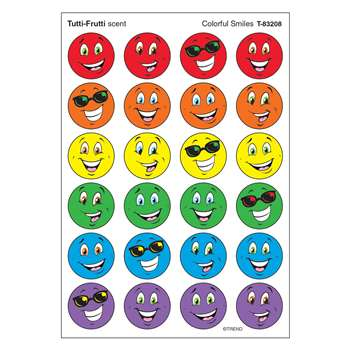 Stinky Stickers Colorful Smiles By Trend Enterprises