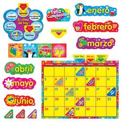 Wipe Off Stars N Swirls Calendar Cling Spanish Bulletin Board Set By Trend Enterprises