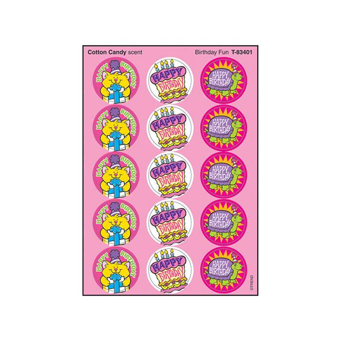 Stinky Stickers Birthday Fun By Trend Enterprises