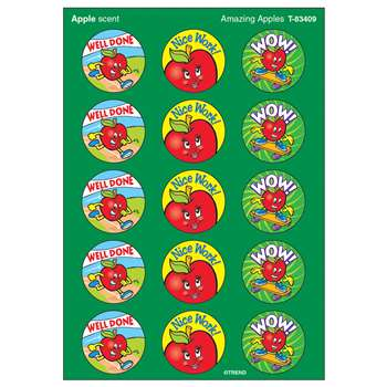Stinky Stickers Amazing Apples 60Pk Acid-Free Apple By Trend Enterprises