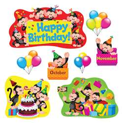 Monkey Mischief Birthday Bulletin Board Set, T-8341
