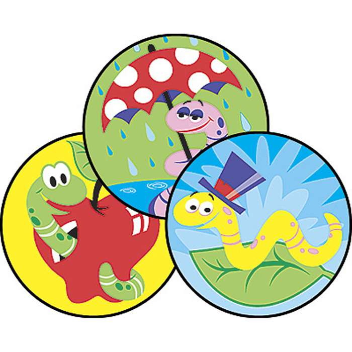 Stinky Stickers Wiggly Worms By Trend Enterprises