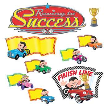 Monkey Mischief Racing To Success Bulletin Board S, T-8343