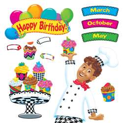 Happy Birthday Bake Shop Bulletin Board Set By Trend Enterprises