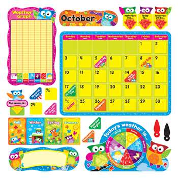 Owl Stars Calendar Bulletin Board Set By Trend Enterprises