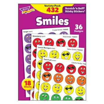 Stinky Stickers Smiles 432/Pk Variety Pk Acid-Free By Trend Enterprises