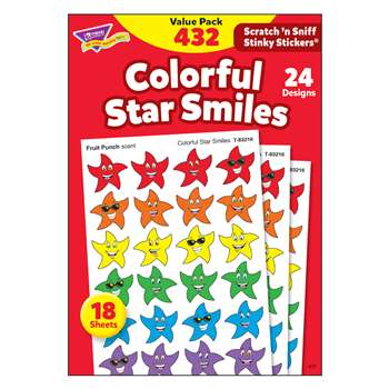 Stinky Stickers Smiley Stars 432/Pk Variety Acid-Free Pk By Trend Enterprises