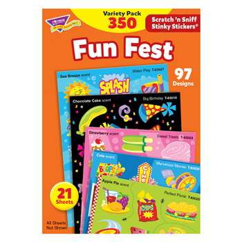 Stinky Stickers Mixed Shapes 350/Pk Acid-Free Variety Pk By Trend Enterprises