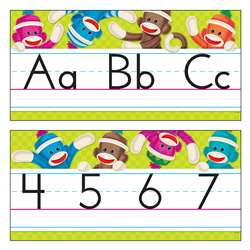 Sock Monkeys Alphabet Lines By Trend Enterprises