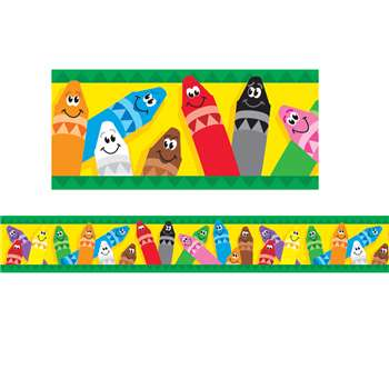 Bolder Border Colorful Crayons By Trend Enterprises