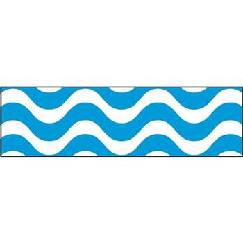 Wavy Blue Bolder Borders, T-85152