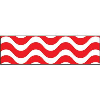 Wavy Red Bolder Borders, T-85155
