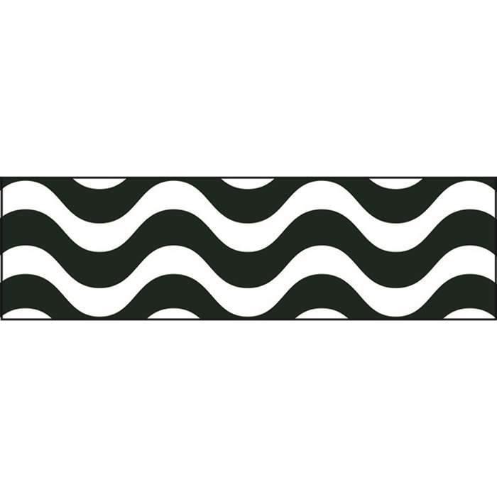 Wavy Black Bolder Borders, T-85158