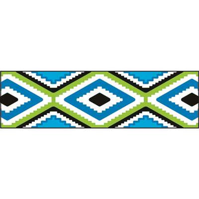 Aztec Blue Bolder Borders, T-85160