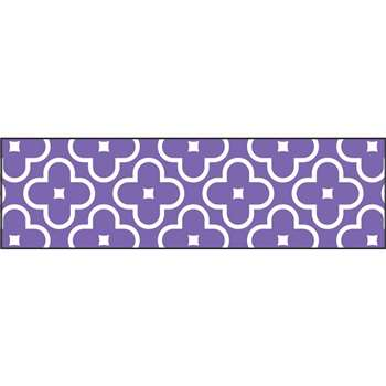 Floral Purple Bolder Borders, T-85197
