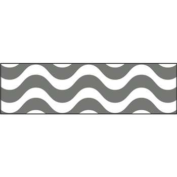Wavy Gray Bolder Borders, T-85338