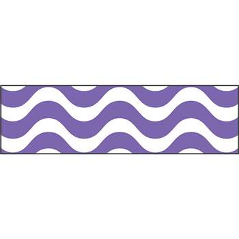 Wavy Purple Bolder Borders, T-85339