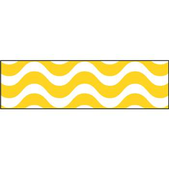 Wavy Yellow Bolder Borders, T-85340
