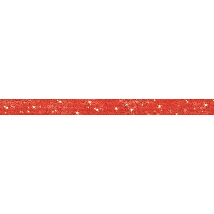 Red Sparkle Bolder Borders By Trend Enterprises