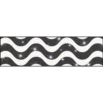 Wavy Black Sparkle Plus Bolder Borders, T-85410