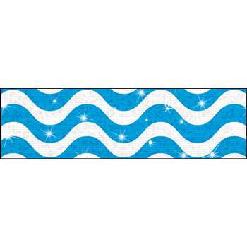 Wavy Blue Bolder Borders Sparkle Plus, T-85411