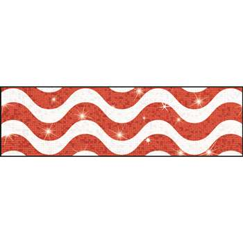 Wavy Red Sparkle Plus Bolder Borders, T-85415