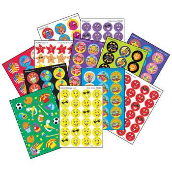 Sticker Pk Super Assortment 1000/Pk 1000+/Pk By Trend Enterprises
