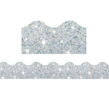 Trimmer Silver Sparkle By Trend Enterprises