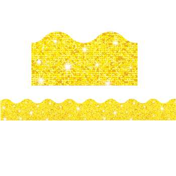 Trimmer Yellow Sparkle By Trend Enterprises