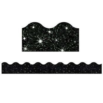 Black Sparkle Trimmer By Trend Enterprises