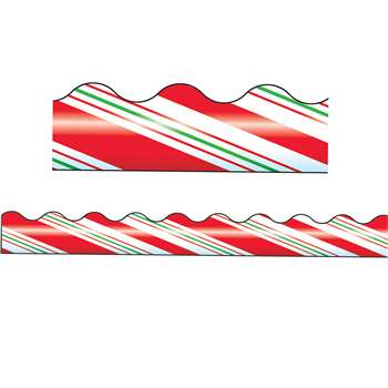 Trimmer Candy Cane Stripes By Trend Enterprises