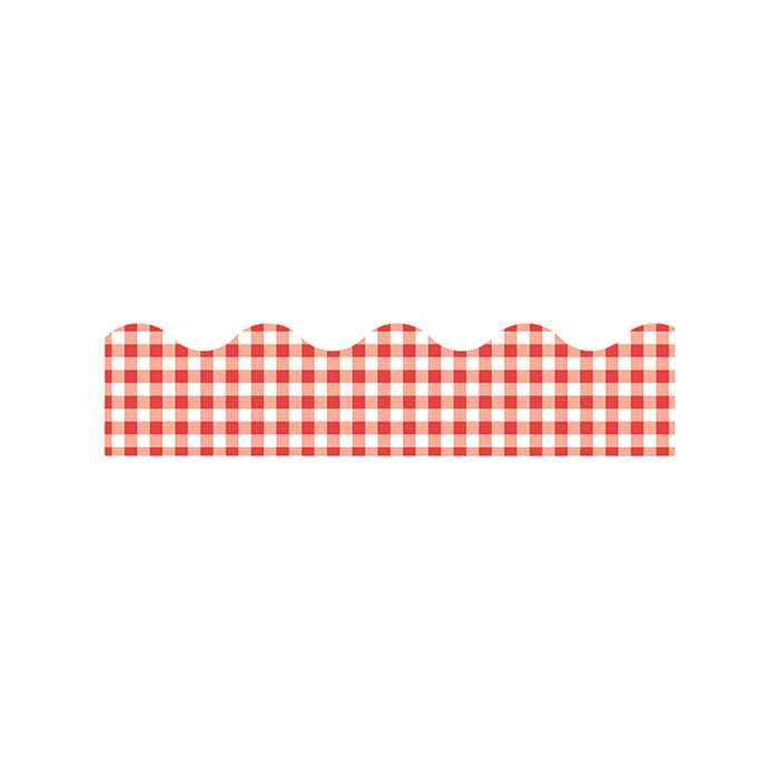 Trimmer Red Gingham By Trend Enterprises