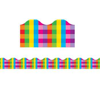 Trimmer Rainbow Plaid By Trend Enterprises