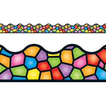 Stained Glass Terrific Trimmer By Trend Enterprises
