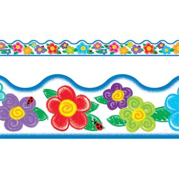 Crayon Flowers Terrific Trimmer By Trend Enterprises