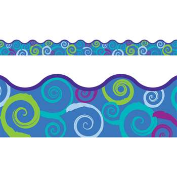 Cool Swirls Terrific Trimmer By Trend Enterprises