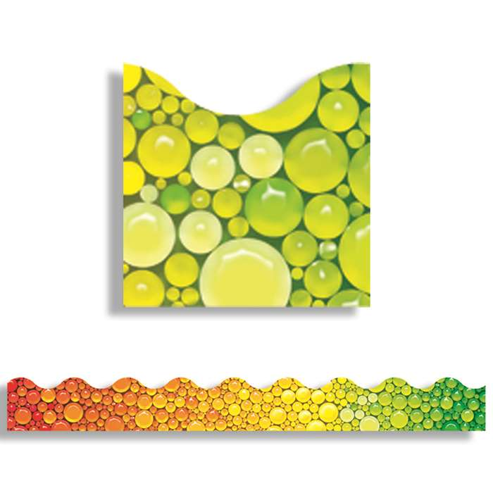 Rainbow Bubbles Trimmers Scalloped Edge 12/Pk 2.25 X 39 Total By Trend Enterprises