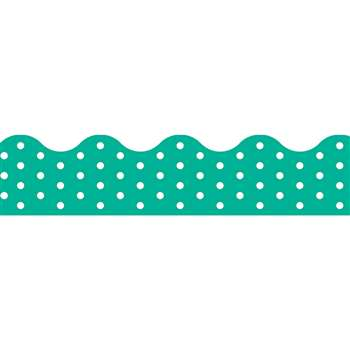 Polka Dots Teal Terrific Trimmers, T-92665