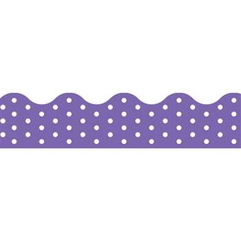 Polka Dots Purple Terrific Trimmers, T-92666