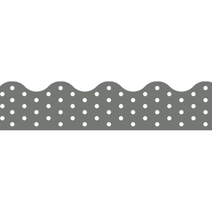 Polka Dots Gray Terrific Trimmers, T-92670