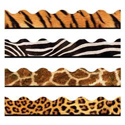 Animal Prints Terrific Trimmer Contains T92163, T92162, T92308, T92310 By Trend Enterprises